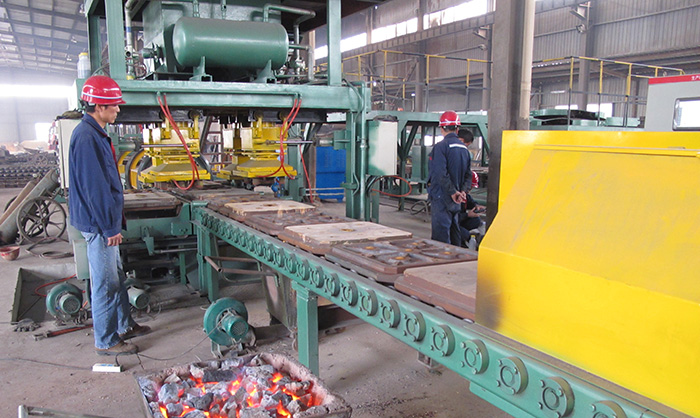 Sand Lined Iron Mold Casting Line