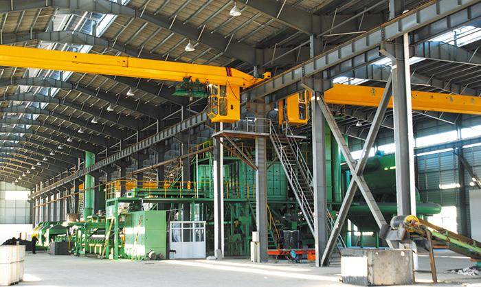 Iron mould sand horizontal production line