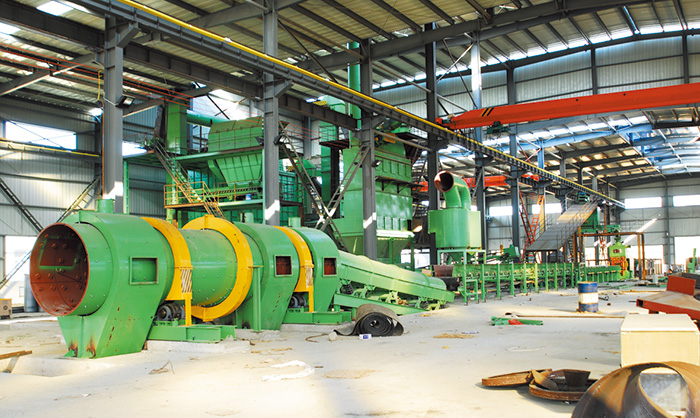 Iron mould sand horizontal production line