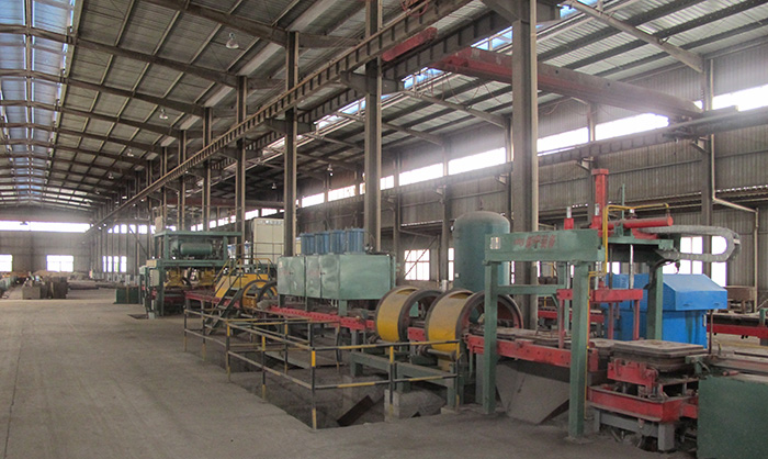 Iron film coating production line