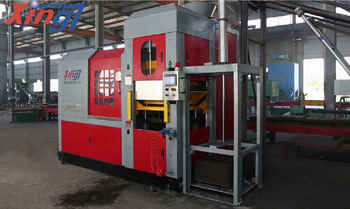 Horizontal box-less moulding machine