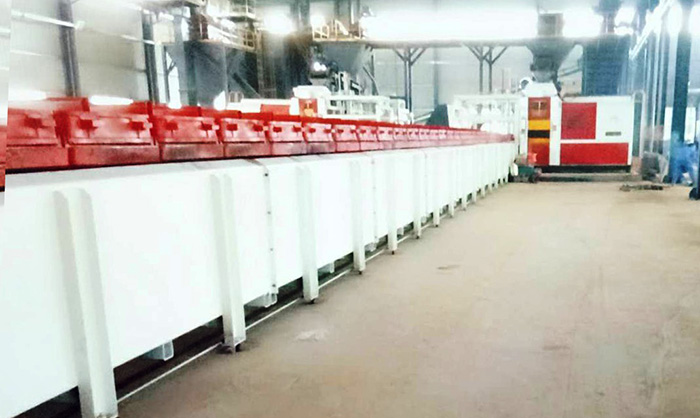 Automatic horizontal moulding machine