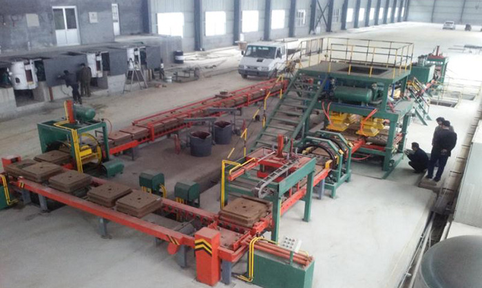 Automatic Horizontal Flaskless Parting Green Sand Molding Machine Line