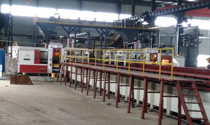 Classification of horizontal boxless automatic molding machine