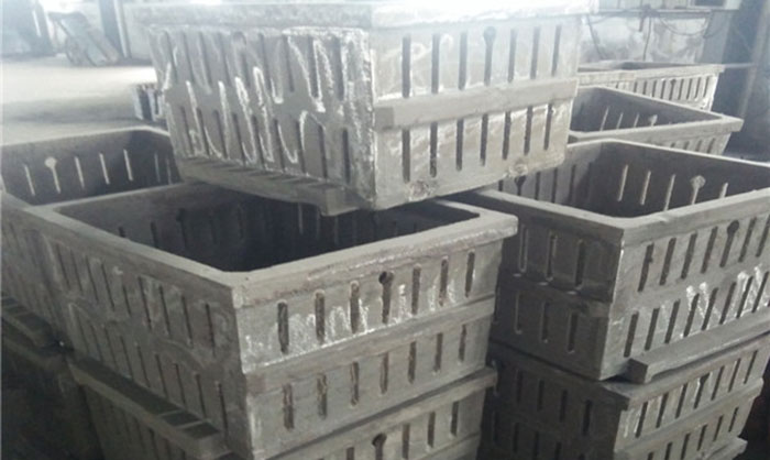 High-temperature Nickel-plate quenching basket for quenching and tempering of cast grinidng media ball