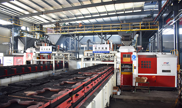 Horizontal casting production line