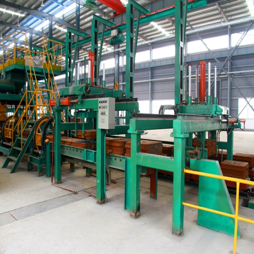 (horizontal parting) iron mould sand casting production line