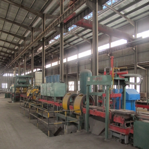 Iron film coating grinding ball production line
